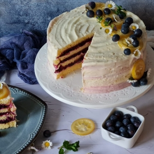 Torta od limuna i borovnica