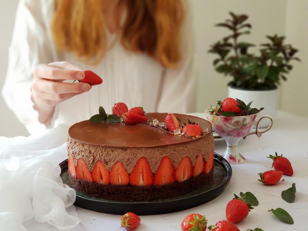 Fraisier torta od čokolade